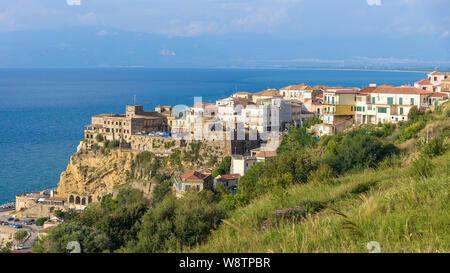 Aerial view of Pizzo town in Calabria, southern Italy - Stock Photo