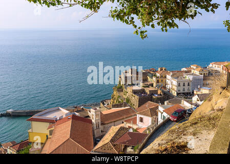Aerial view of rooftops of Pizzo town in Calabria, southern Italy - Stock Photo