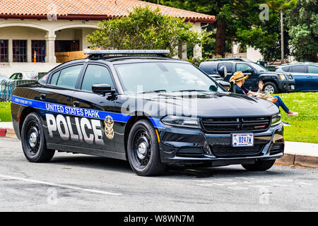 August 10, 2019 San Francisco / CA / USA - United States Park Police unit providing security at a public event in on the ground of Presidio of San Fra - Stock Photo