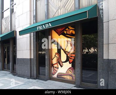 --File--A Prada store is pictured in Shanghai, China, 10 December 2010.   Prada has announced plans to open 50 new stores in China in the next three y - Stock Photo