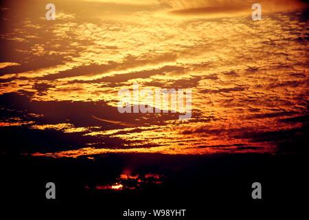 Sun rise and sun set background. - Stock Photo