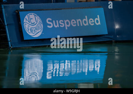 Mason, Ohio, USA. 13th Aug, 2019. Play was suspended for about an hour during Tuesday's round of the Western and Southern Open at the Lindner Family Tennis Center, Mason, Oh. Credit: Scott Stuart/ZUMA Wire/Alamy Live News - Stock Photo