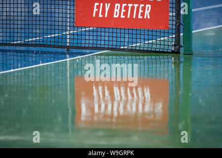 Mason, Ohio, USA. 13th Aug, 2019. The evening match was delayed by rain at Tuesday's round of the Western and Southern Open at the Lindner Family Tennis Center, Mason, Oh. Credit: Scott Stuart/ZUMA Wire/Alamy Live News - Stock Photo