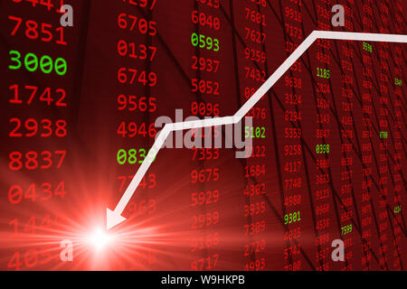 Stock Market - Falling stock prices drop down from Global economic and financial  crisis - Stock Photo