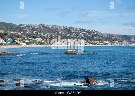 Laguna Beach Coastline in Orange County California - Stock Photo