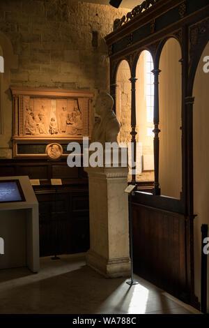 Quiet corner in The Garden Museum, London - Stock Photo