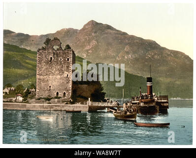 Carrick Castle, Lochgoil (i.e. Loch Goil), Scotland; Title from the Detroit Publishing Co., catalogue J-foreign section. Detroit, Mich.: Detroit Photographic Company, 1905.; More information about the Photochrom Print Collection is available at http://hdl.loc.gov/loc.pnp/pp.pgz; Print no. 13131.; Forms part of: Views of landscape and architecture in Scotland in the Photochrom print collection. - Stock Photo