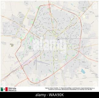 Merida,mexico,north america - Stock Photo