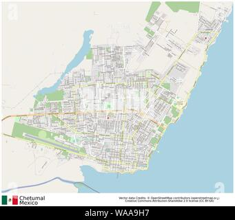 Chetumal,mexico,north america - Stock Photo