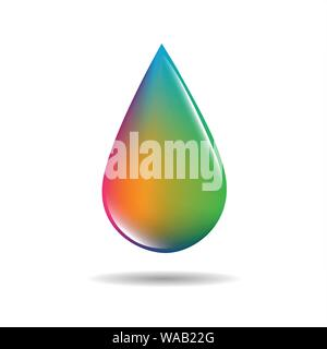 colorful drop in rainbow colors on white background vector illustration EPS10 - Stock Photo
