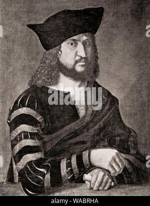 Frederick III or Frederick the Wise, 1463 - 1525, Elector of Saxony,  Friedrich III.oder Friedrich der Weise, 1463 - 1525, Kurfürst von Sachsen - Stock Photo
