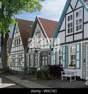Buildings in the Alexandrinenstreet in Rostock Warnemuende, Germany - Stock Photo