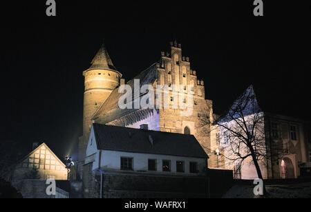 Olsztyn, biggest town of the Warmian-Masurian Province, North-Eastern Poland. Warmian chapter castle, 14th century. Astronomer Nicolas Kopernikus used to be one of the trustees of the castle. 2005 phot. Pawel Szadkowski/FORUM - Stock Photo