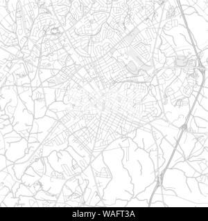 Rock Hill, South Carolina, USA, bright outlined vector map with bigger and minor roads and steets created for infographic backgrounds. - Stock Photo
