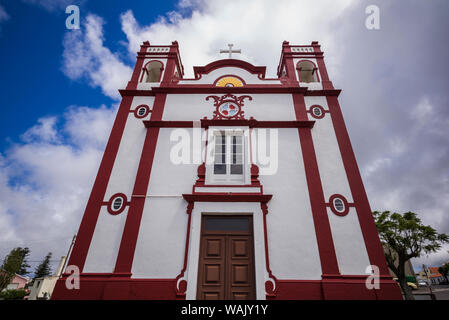 Portugal, Azores, Santa Maria Island, Vila do Porto. Ermida de Santa Antao chapel - Stock Photo