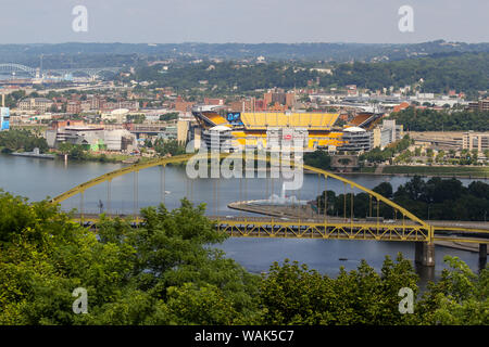 Fort Pitt Bridge, Pittsburgh, Pennsylvania, USA - Stock Photo
