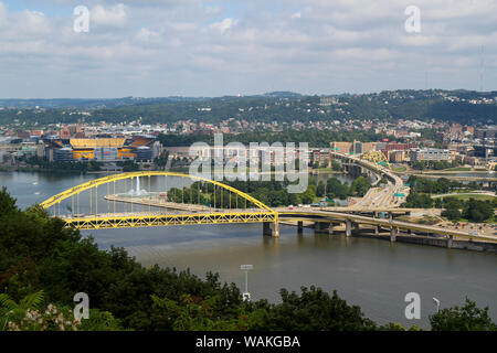 Fort Pitt Bridge, Pittsburgh, Pennsylvania, USA. - Stock Photo