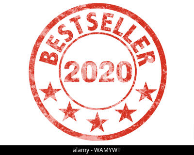 Grunge label for bestseller of year 2020 - Stock Photo