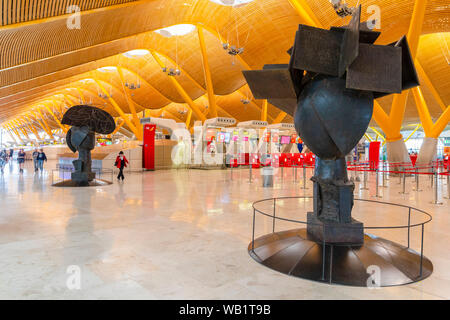 Madrid-Barajas Adolfo Suarez Airport Madrid, Spain, South West Europe - Stock Photo
