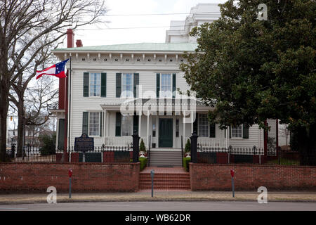 Executive residence of President Jefferson Davis and family while the capitol of the Confederacy was in Montgomery, Alabama - Stock Photo