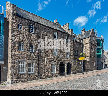 National Trust for Scotland Provost Ross's House in Shiprow Aberdeen Scotland UK now part of the adjacent Maritime museum - Stock Photo