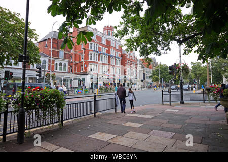 The Scarisbrick Hotel on Lord Street Southport - Stock Photo