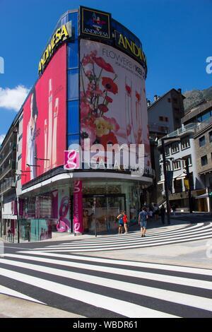 Andorra in summer - Stock Photo