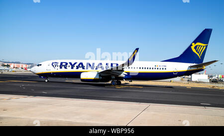 Ryanair Boeing 737-8AS on the apron at Luton Airport, England. - Stock Photo