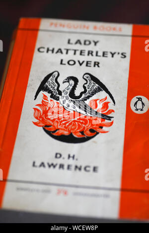 Lady Chatterley's Lover, classic book by DH Lawrence. - Stock Photo