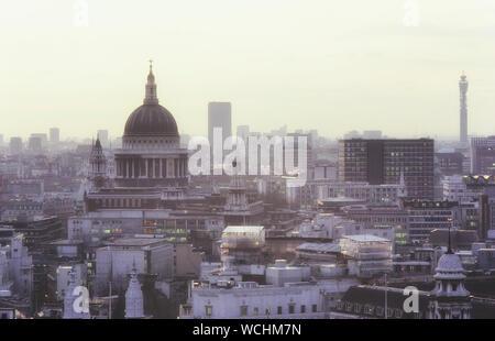The London skyline, England, UK. Circa 1980's - Stock Photo