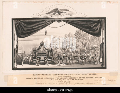 Grand funeral pageant at New York July 23, 1850, in honor of the memory of Major General Zachary Taylor 12th president of the United States / lith. and pub. by Geo. E. Leefe, 111 Nassau St., N.Y. Abstract/medium: 1 print : lithograph  31 x 42 cm. (image) - Stock Photo