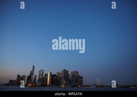 Nova Iorque, Nova Iorque, Estados Unidos. 30th Aug, 2019. View of Manhattan Island in New York in the United States this Friday, 30th. Credit: William Volcov/ZUMA Wire/Alamy Live News - Stock Photo