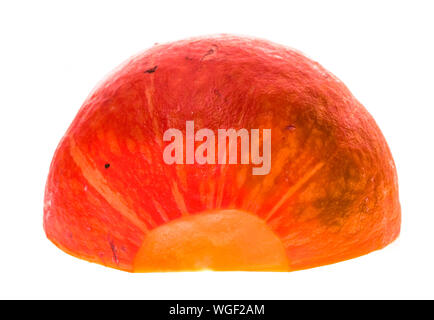Red kuri squash - Orange Hokkaido pumpkin isolated on white. Uchiki Kuri Squash, Japanese Squash or Baby Red Hubbard Squash photographed in tabletop s - Stock Photo