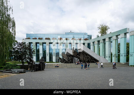 Warsaw, Poland - July, 2019: Warsaw Uprising Monument. The Uprising Monument is a monument in Warsaw, Poland, dedicated to the Warsaw Uprising of 1944 - Stock Photo