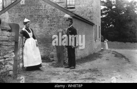 Postal deliveries 1800s - Stock Photo