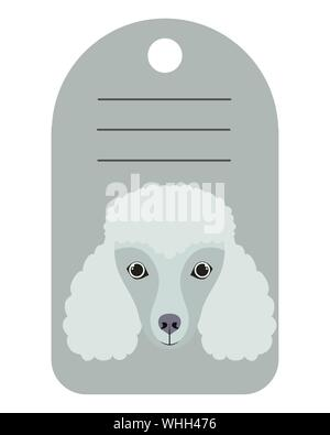 dog card with space to write - Stock Photo