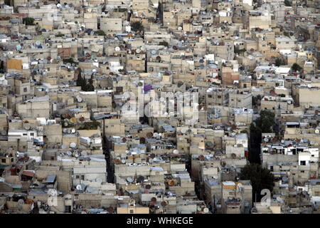 the city centre of Damaskus before the war in Syria in the middle east - Stock Photo