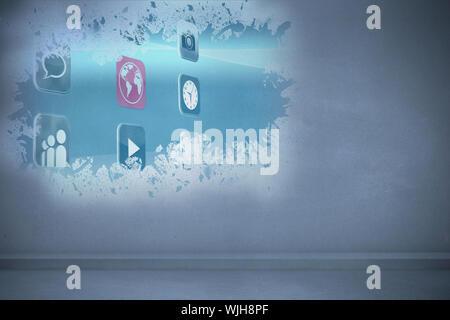 Splash showing applications - Stock Photo