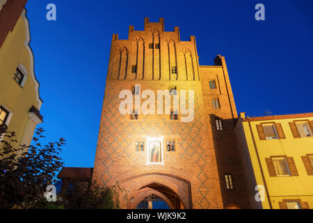 Upper Gate in Olsztyn. Olsztyn, Warmian-Masurian, Poland. - Stock Photo