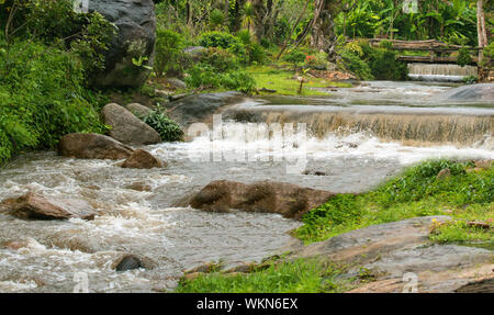 weir over water fall - Stock Photo