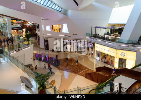 Las Vegas, NV / USA – May 11, 2019: The Shops at Crystals is home to major designers and luxury brands in the Aria Resort in Las Vegas, Nevada. - Stock Photo