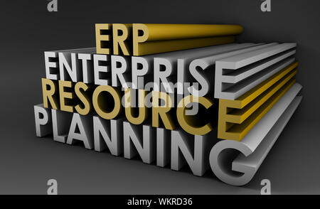 Enterprise Resource Planning ERP 3d Concept Art - Stock Photo