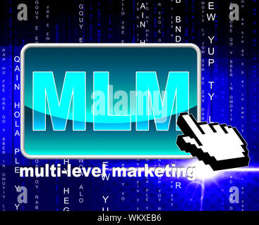 Multi Level Marketing Representing World Wide Web And Website - Stock Photo