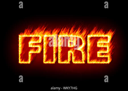 An image of the word fire in flames - Stock Photo