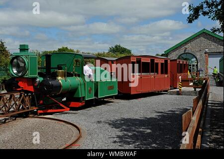 The Lartigue Monorail, a unique heritage railway in Listowel, Co Kerry, Ireland. - Stock Photo