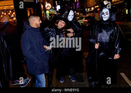 People celebrating, Halloween, Old Compton Street, London, Britain.  31 Oct 2017 - Stock Photo