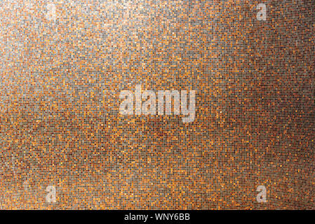 Abstract mosaic colored ceramic stones square mosaic tiles on wall for texture background - Stock Photo