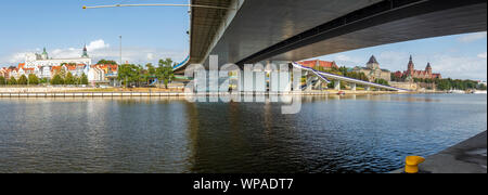 Szczecin, Panoramic view of the historical part of the city - Stock Photo