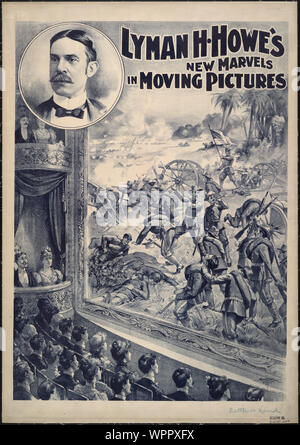 Lyman H. Howe's new marvels in moving pictures / Courier Litho. Co., Buffalo, N.Y. - Stock Photo