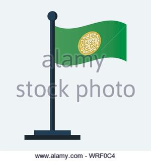 Rohingya Flag Isolated on White Background - Table Flag, Vector Illustration - Stock Photo
